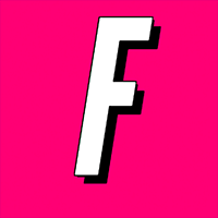 Letter F on the pink background