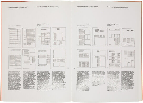 Photography of book designed with modular grid system.