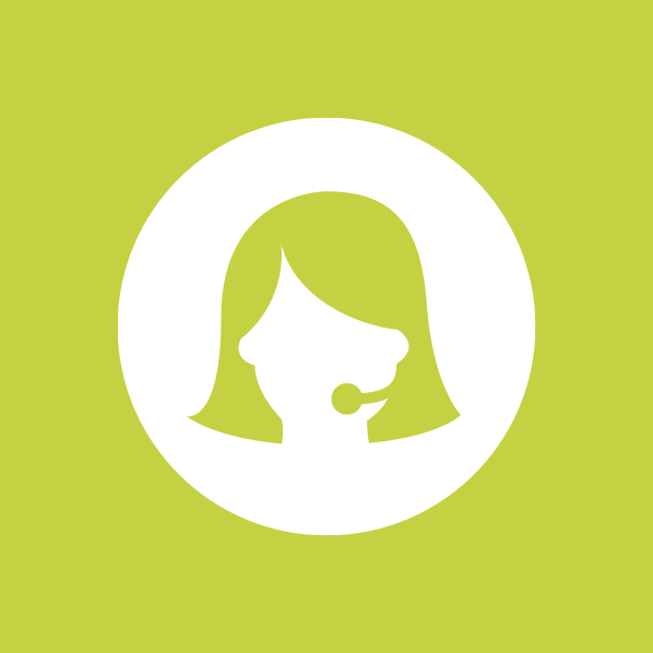 Icon of a woman from support