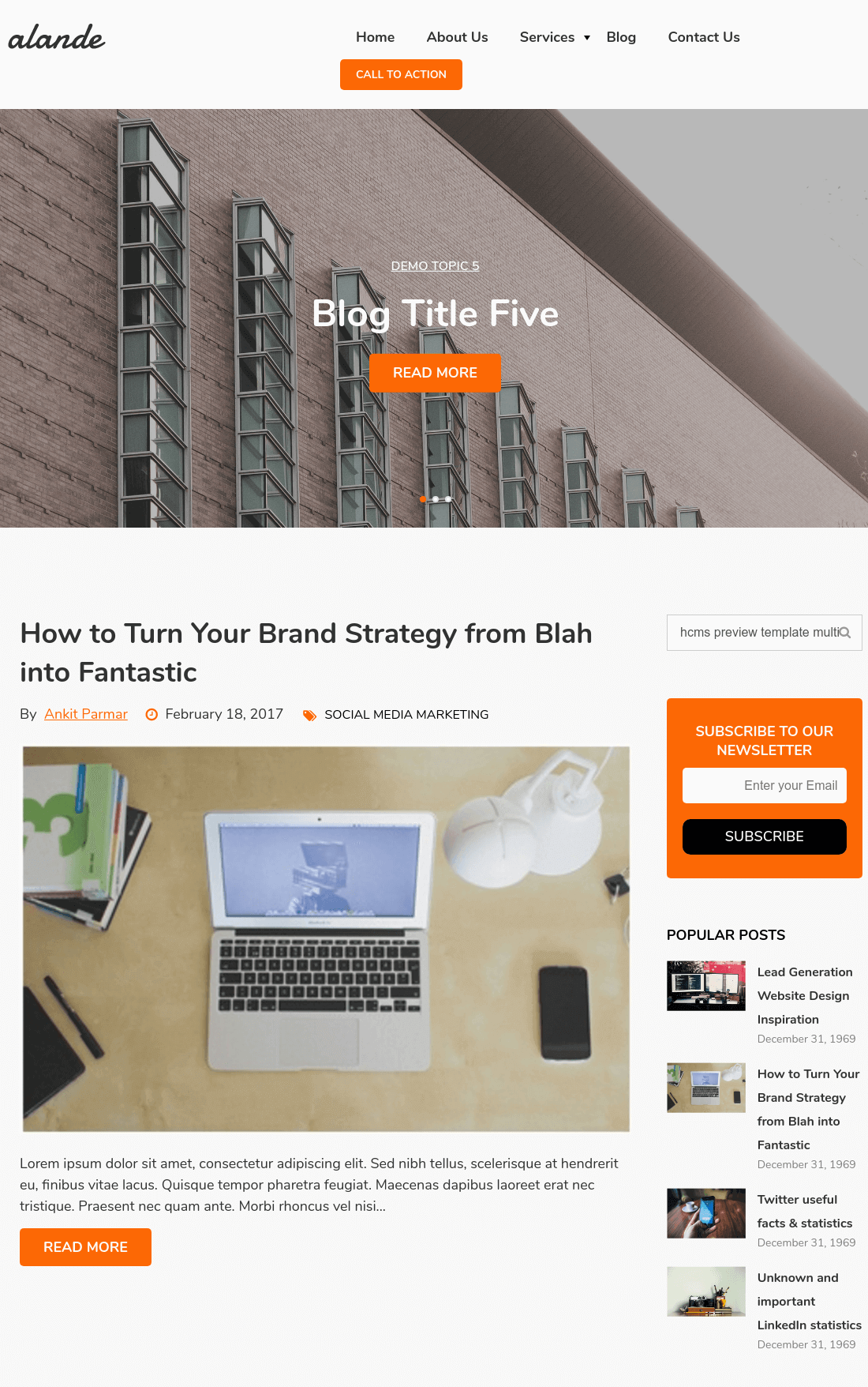 Hubspot blog templates enhancing the content experience with excellent navigation and good content design.