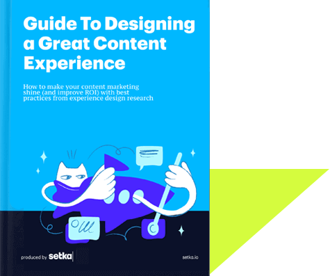 "The front cover of the book ""Guide to Designing a Great Content Experience."""