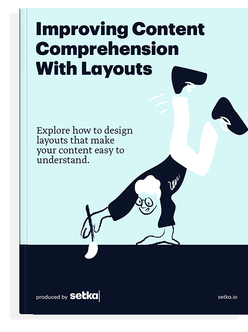 """The front cover of the book """"Improving Content Comprehension With Layouts."""""""