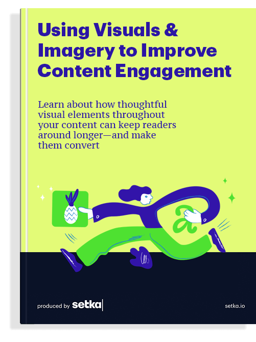 """The front cover of the book """"Using Visuals & Imagery to Improve Content Engagement"""""""