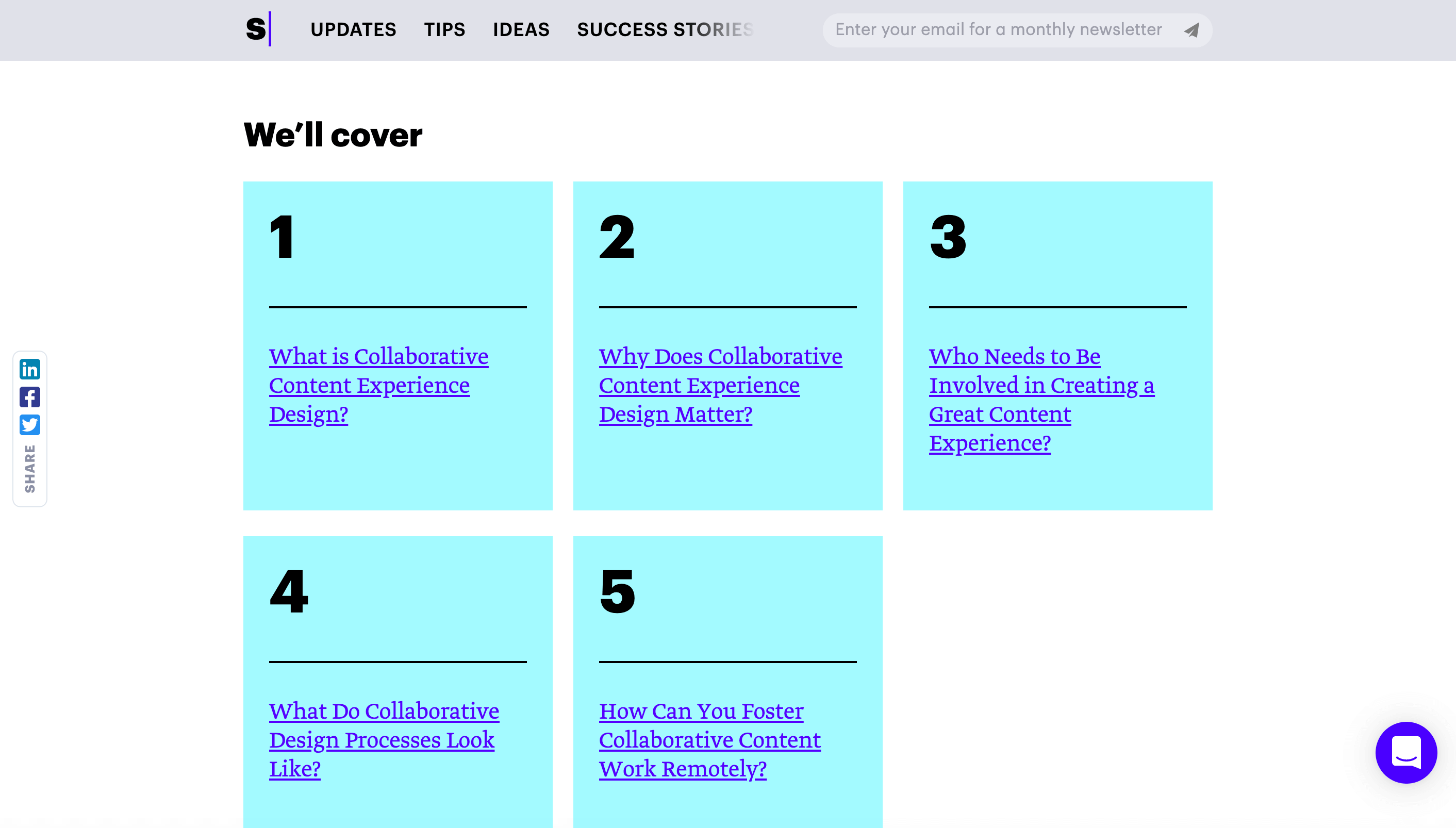 Table of contents to create a better content experience, facilitate content engagement and improve overall content UX.