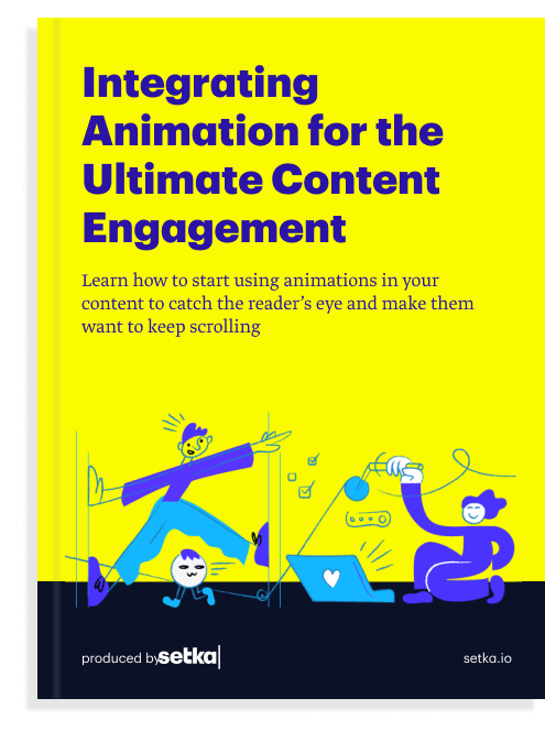 """The front cover of the book """"Integrating Animation for the Ultimate Content Engagement."""""""