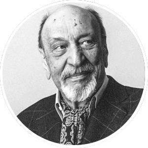 Head shot of an American graphic designer Milton Glaser