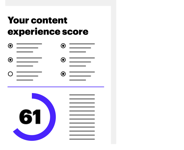 Illustration of a Content Experience Scorecard example