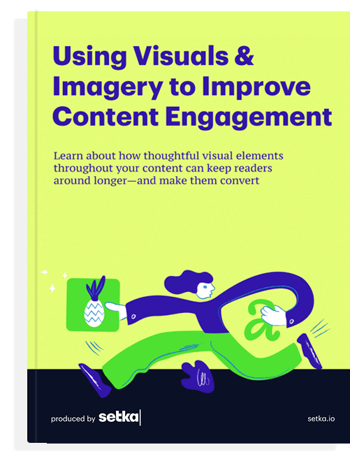 """The front cover of the book """"Using visuals & Imagery to improve content engagement."""""""